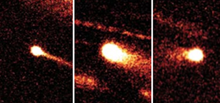 Left: Images of the first three main-belt comets (MBCs) to be discovered, each showing the fuzzy appearance and tails characteristic of cometary activity - Image credit: H. Hsieh