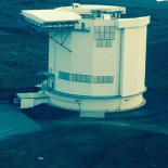 View of the James Clerk Maxwell Telescope (JCMT) from the Subaru telescope