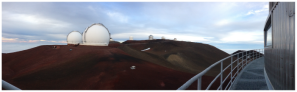 View of the top of Mauna Kea from the Subaru Telescope Catwalk - Credit: M.E. Schwamb